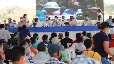 Acto oficial de implementación acuerdo sobre presa de Guayubin, Boca de Los Ríos, Santiago Rodríguez